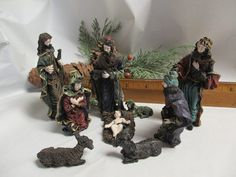 Christmas nativity scene / nativity set / by cgraceandcompany