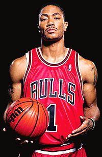 Derrick Rose. Basketball arms!
