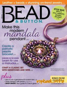 Bead and Button No 131 - Feb 2016 by Appermark - issuu Beaded Jewelry, Handmade Jewelry, Diy Jewellery, Beading Patterns Free, Beading Tutorials, Beading Techniques, Ancient Jewelry, Bead Weaving, Jewelry Trends