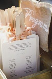 Fan programs for an outside wedding. Love it!!!!