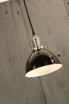 Industrial Lighting With Black Enamel Dome by lucentlampworks, $172.00