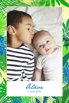 Faire-part de naissance Jungle photo by Louise Pianetti pour FairepartNaissance.fr #rosemood #atelierrosemood #birth #announcement #card #picture