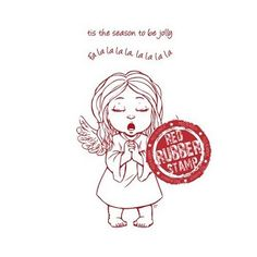 Angel Singing available at Little Miss Muffet Stamps.