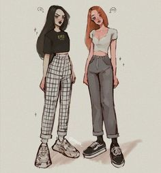 aesthetic clothes in girls - - Diy Outfits, Anime Outfits, Retro Outfits, Cute Art Styles, Cartoon Art Styles, Fashion Design Drawings, Fashion Sketches, Kleidung Design, Drawing Anime Clothes