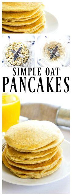 ismple oat pancakes