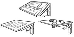4-Position Folding Brackets - Hardware