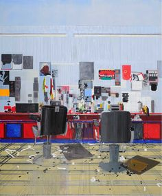 Hurvin Anderson  Afrosheen  2009 Oil on canvas 250 x 208 cm