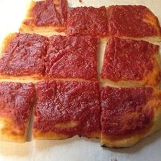 "Rhode Island-Style Pizza Strips aka Bakery Pizza I ""Outstanding! I'm a transplant from Rhode Island to Florida. This is great, like going to the corner bakery back home, and very easy to make."""