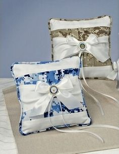 Army Wedding Favors | Military Digital Camouflage Ring Pillow | My Wedding Favors Etc ...