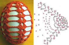 e7 Crochet Doily Diagram, Crochet Edging Patterns, Easter Crochet Patterns, Crochet Motif, Crochet Doilies, Crochet Stitches, Crochet Ornaments, Handmade Ornaments, Easter Toys