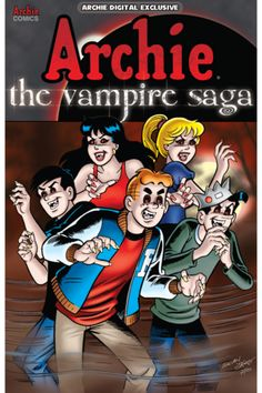 Archie: The #Vampire Saga Digital Exclusive     What happens when #Archie and the gang get tangled up with the most fearsome creatures of the night? Things get a little batty! Join the #Riverdale gang in some stories that you can really sink your fangs into. Whether you're a #Twihard or like to kick it old-school with #Dracula, this book's got you covered. With over 100 pages of bloody good stories, this book has more laughs than you can count! #Twilight #comics #comicsplus #iversemedia