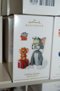 Hallmark 2012 Tom & Jerry Holiday Hijinks Tv Cartoon Cat Mouse Ornament