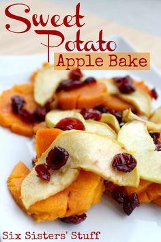 Sweet Potato Apple Bake from Sixsistersstuff.com #recipe #sidedish