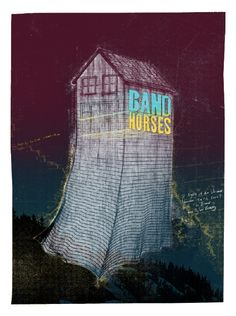 the drones, tyler ramsey and band of horses - gig poster Music Posters, Concert Posters, Band Of Horses, Gig Poster, The Black Keys, Arctic Monkeys, Bastille, Music Lyrics, Drones