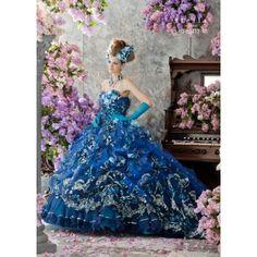 Stella de libero fantasy blue wedding dress.