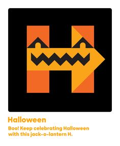 Boo! Keep celebrating Halloween with this jack-o-lantern H.