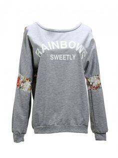 Floral Back Rainbow Knit Sweater