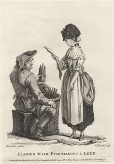 A Ladies Maid Purchasing a Leek – Caldwall after Brandoin 1772