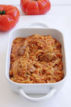 Giouvetsi recipe (Greek Beef stew with Orzo pasta) - My Greek Dish Think Food, I Love Food, Orzo, Greece Food, Eat Greek, Greek Pasta, Greek Cooking, Greek Dishes, Mediterranean Dishes