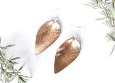 Rose Gold folded teardrop earrings Teardrop Earrings, Leather Jewelry, Cottage, Rose Gold, Boutique, Sterling Silver, Metal, Beautiful, Style
