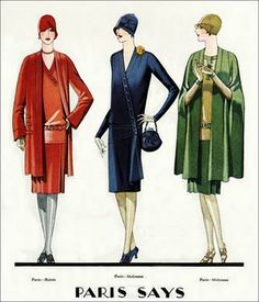 the 1920s-1928 Paris fashion