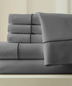 Loving this Silver & Graphite 1000-Thread Count Sheet Set on #zulily! #zulilyfinds