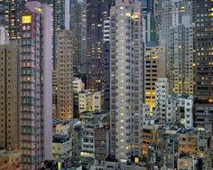 Paisaje nocturno de Hong Kong