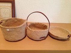 麻ひも(細編み)で作る簡単かごの編み方 -無料編み図とナチュラルカントリー風アレンジ例- - コラムLatte