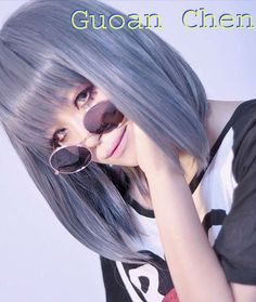 Japanese Fashion Lolita Blue & Gray Soft Straight Cosplay Anime Party Wig + Free Wig Cap-in Wigs from Beauty & Health on Aliexpress.com $17.09