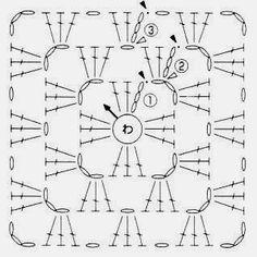 Vzory háčkovaných čtverců - různě posbírané :: Háčkování