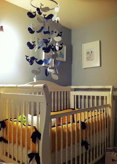 Our Scott Spot: Fun Find Friday: Silhouette Inspirations Nautical Mobile, Nautical Nursery Decor, Nautical Baby, Whale Themed Nursery, Nursery Themes, Nursery Ideas, Whale Mobile, Best Baby Gifts, Baby Boy Rooms