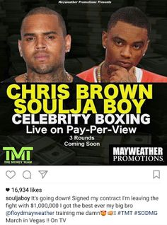 Soulja Boy reacts to Mayweather and 50 Cents celebrity boxing match with Chris Brown