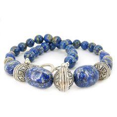 Long collier 56 cm en pierres lapis lazuli. Apprêts en argent 925 Pierre Lapis Lazuli, Pandora Charms, Charmed, Stone, Bracelets, Jewelry, Long Choker Necklace, Stones, Rock