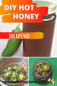 If you like honey with a kick … make your own jalepeno infused honey. This hot honey can be as strong as you wish or make it with just a little bite. #carolinahoneybees