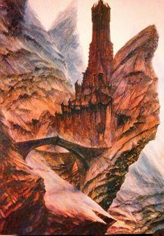Dit is de toren van Cirith Ungol. Vroeger was het een toren van Gondor om Mordor in de  gaten te houden, maar het werd veroverd door mordor zelf. Sam moet op zoek naar Frodo in deze toren vooraleer zij de ring kunnen gaan vernietigen.