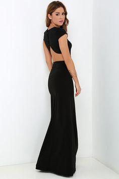 Only $68! Conversation Piece Black Backless Maxi Dress at Lulus.com!