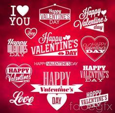 Valentine's day word art