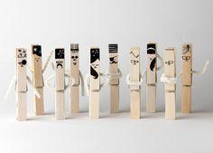 hand-drawn clothespins / mr.nico