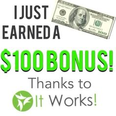 I love It Works! Want to learn more about how we get paid? Aleshawraps.myitworks.com or Alesha.gile@gmail.com