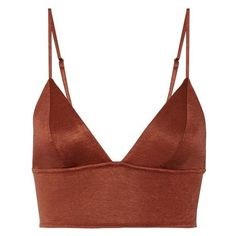 Fleur Du Mal Stretch-jersey soft-cup triangle bra ❤ liked on Polyvore featuring intimates, bras, stretch jersey, padded triangle bra, padded underwire bra, fleur du mal and soft cup bra