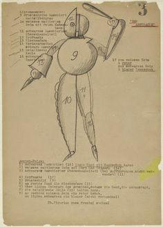 """ArtPlastoc 246-Schlemmer ОСКАР """"к балету триадического"""" 1922"""
