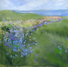 """Sue Fenlon is another of my newly-discovered favorite artists.  This beautiful painting is called """"Cornflowers""""."""