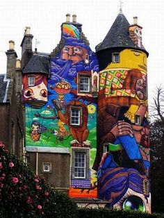 Completely Graffitied Scottish Castle