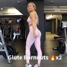 Glute burnouts . The last portion of all my leg days that has me waddling out of the gym . And before I move on, this @neuapparel set tho (as that will probably be the main question lol). - As a lady who was not blessed with any 'rear curves', weights have been instrumental in me not only getting stronger but building some mass and reshaping. I always start my legs days with heavier weights (squats, deadlifts, hip thrusts, lunges, etc). - Amazing booty routine ! ..... Athlete @katie...