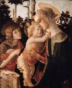 This image hangs by my fireplace.  Boticelli Madonna