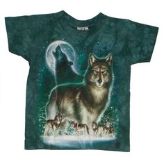 Wolf Moon Tie Dye Youth T-Shirt