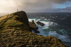 """Tempest at the Edge of the World - A violent storm hit Mykines Island when we were hiking to the very edge of it, the westernmost point in the Faroe Islands. If you'd like to shoot this incredible location among tons of other spectacular spots, check out my brand new '<a href=""""https://www.erezmarom.com/photography-workshops/view/saga-of-the-seas-faroe-islands-photo-workshop"""">Saga of the Seas</a>' Faroe Islands photo workshop and '<a…"""