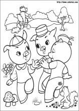 Coloriages de Les 3 Petits Cochons sur coloriez.com