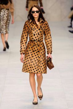 Polka dots feel so last season after you've seen hearts as dots - Burberry Fall 2013 runway #fashionweek