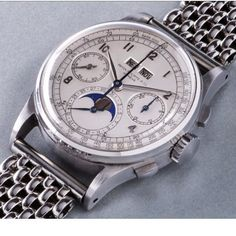 $11 million. A rare stainless steel Patek Philippe Reference 1518 wristwatch sold for just over $11 million this past week making it the most expensive wristwatch ever to be sold at auction.  The price was reached after a 13 minute bidding war at the Phillips in Association with Bacs & Russo Geneva Watch Auction: FOUR sale in Geneva Switzerland and was more than triple the initial pre-sale estimate.  Read all about it at BOBSWATCHES.com.